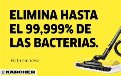 Elimina hasta el 99,999% de las bacterias