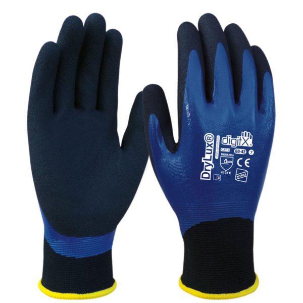 drylux guante nitrilo bicapa azul granulado imperm t 611